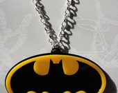 Batman Double Layer Laser Cut Statement Pendant Necklace