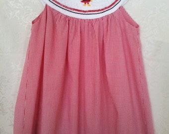 Hand-Smocked Carolina Gamecock Dress