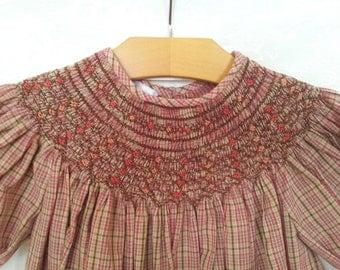 Girl's Heirloom Hand-Smocked Bishop Dress