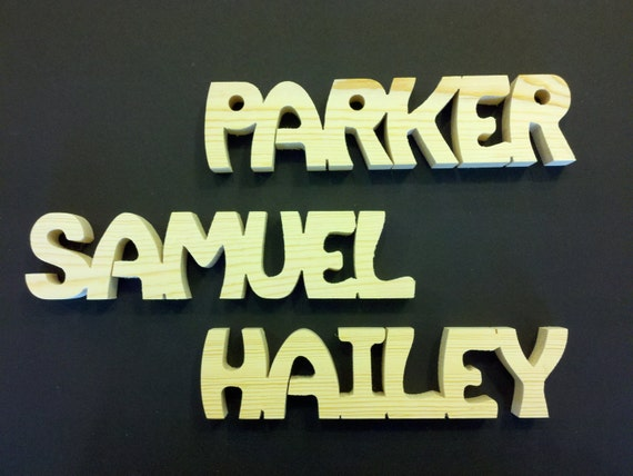 6 letter personalized wooden name