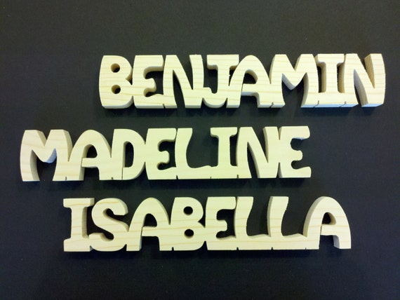 8 letter personalized wooden names