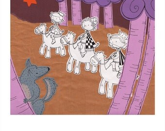 Presents for Little Red Riding Hood  print