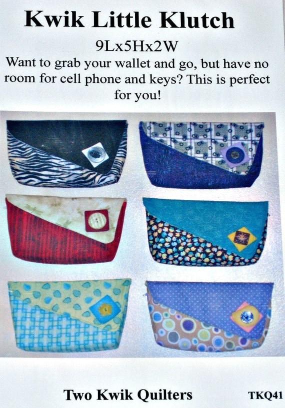 Kwik Little Klutch Sewing Pattern by Two Kwik Quilters