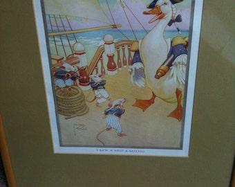 Vintage nursery print