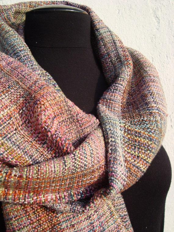 SALE Handwoven   Silk  Shawl Oriental Curiosa