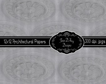 12x12 Digital Scrapbooking Paper - Architectural Elements