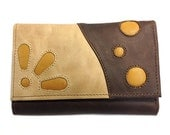 Yellow and Brown Medium Leather Wallet