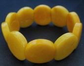 yellow beaded bracelet, eco-friendly bracelet