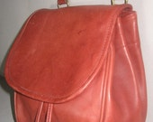 Vintage COACH Sienna Red Cowhide Leather Crossbody Bag - Drawstring Tote Excellent Condition Bag