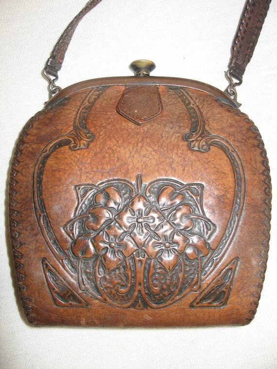 Antique Vintage Tooled Leather Western Frontier By