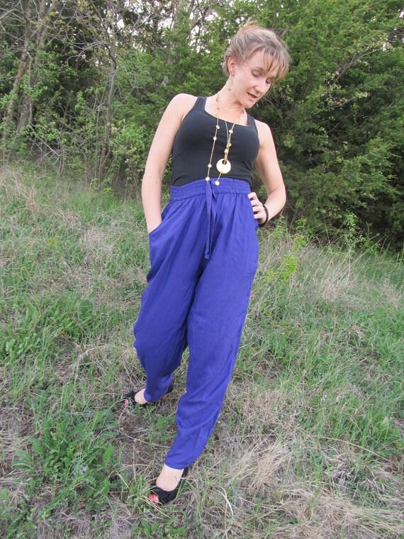 Purple Floaty Harem Pants