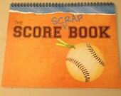 Score Scrap Book for Baseball and Softball