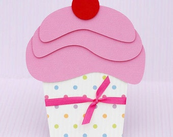 Custom Delicious Cupcake Birthday Party Invitation Set of: 3