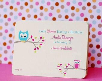 Cute Little Owl Invitations - set of 12