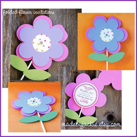 Garden Flower Party Invitations set of 24 – Flower Party Invitations