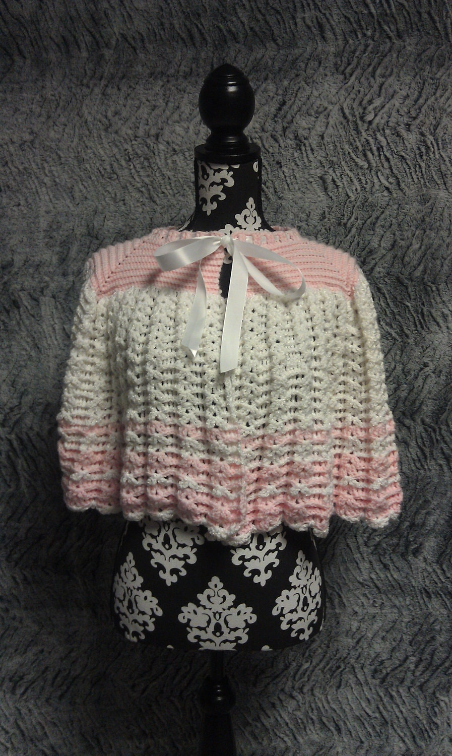 crochet vintage look cape bed jacket by frommmetoyou on etsy. Black Bedroom Furniture Sets. Home Design Ideas