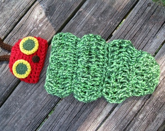 Caterpillar Crocheted Baby Outfit --Great Photography Prop