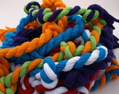 Colorful Super Strong Braided Jersey Tee Chews Toy