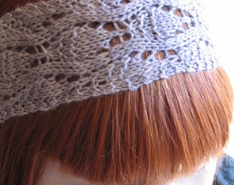 Lavender Lace Knit Headband