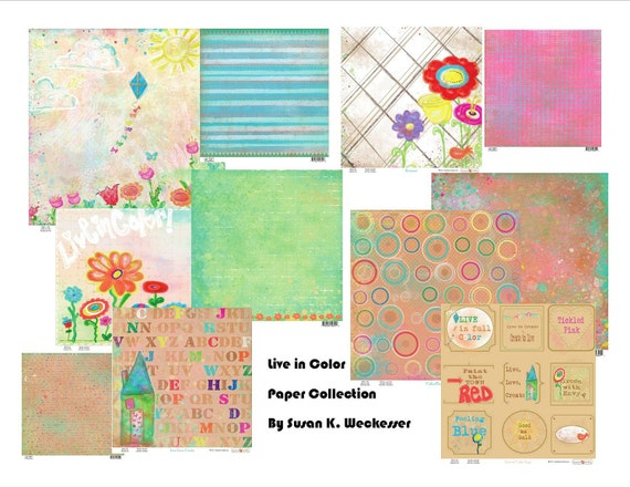 Live in Color Scrapbook paper collection