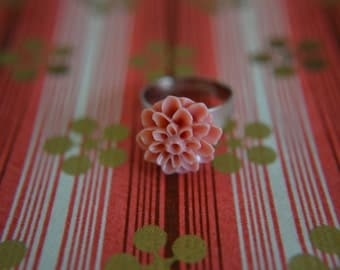 Dark Rose Chrysanthemum Ring