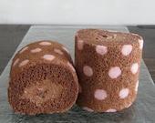 10 pieces of Chocolate Raspberry Roll, ebisu Roll - Japanese Style Chiffon Roll Cakes