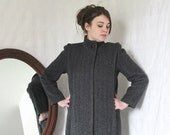 RESERVED 1960's Vintage MOD Grey midlength Coat Space Age sista