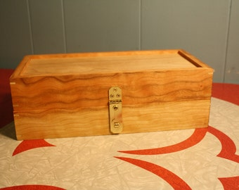 World's Greatest Knitting or Sewing Storage Box. Hand Made Cherry & Maple