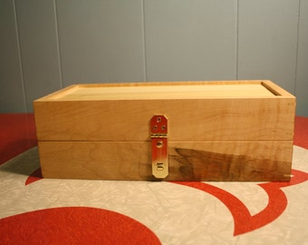 World's Greatest Knitting or Sewing Storage Box. Hand Made Maple & Poplar