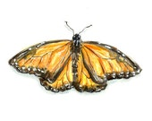 Monarch Butterfly Painting - 4x6