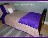 Design Your Own Children's Bedding- LSU inspired Big Boy Bedding - Twin size FREE Monogramming