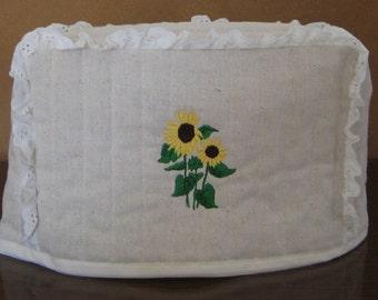 2 Slice Toaster Cover Sunflower Design