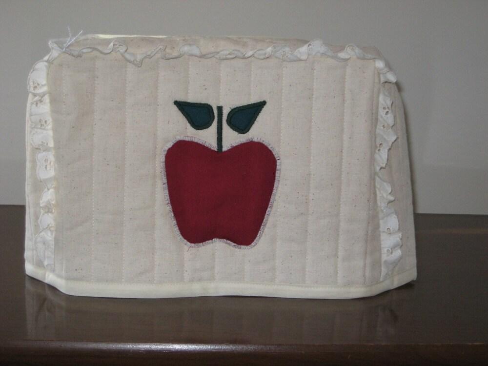 4 slice square toaster cover apple design. Black Bedroom Furniture Sets. Home Design Ideas