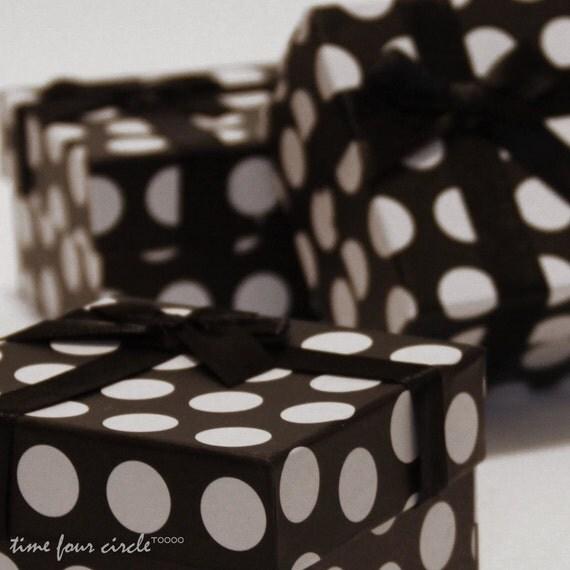 Set of 10, Polka dot Gift Box, Jewelry Box