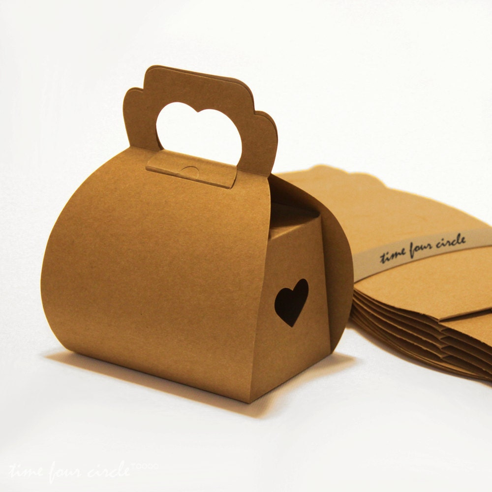 Set of 20 Kraft Cake Box Gift Box Favor Gift by TimeFourCircle