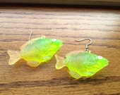 Translucent Neon Fish Earrings