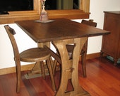 Craftsman style Nook Table and set of 3 Legged Chairs - White Oak