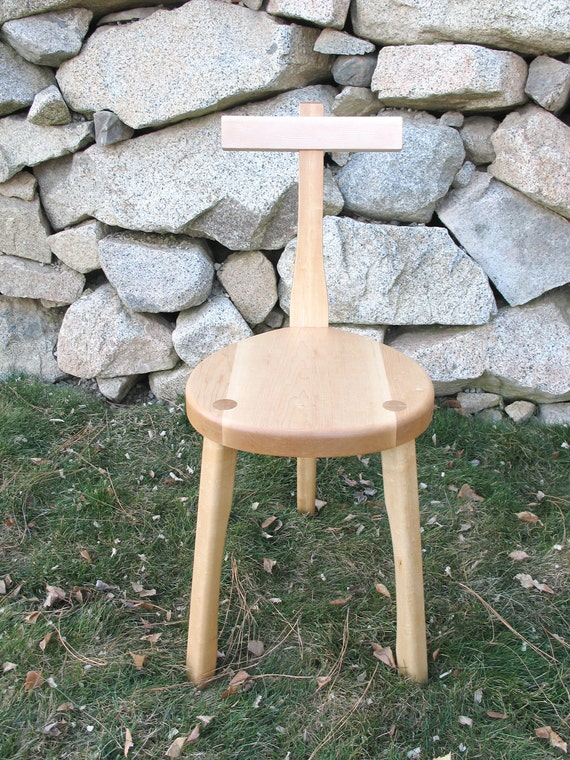 3 Legged Wood Chair - Guitar Stool - Maple