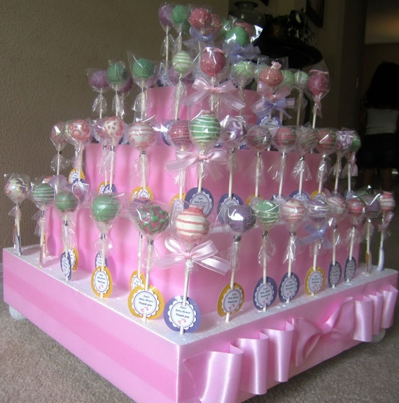 Items similar to cake pops baby shower cake pops on etsy for Pop cake decoration