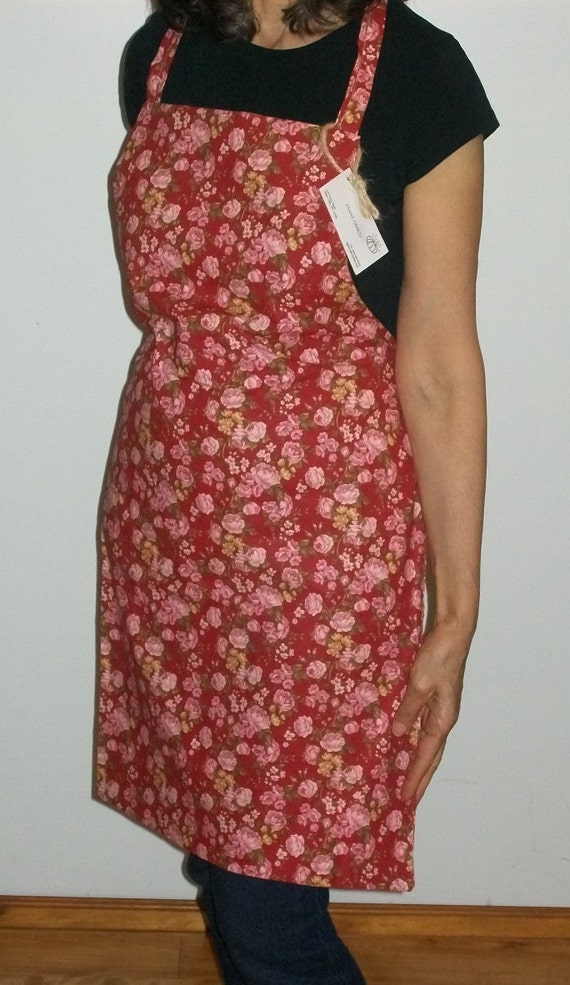 Reversible Full Apron with Flowers