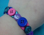 Multi Colored Button Bracelet