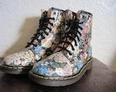 Reserved Vtg Floral Leather Dr Martens US 7 UK 5 EU 37 38 Sienna Miller
