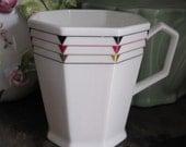 MIKASA  Staccato Coffee Mug in Art Deco Style Bone China Narumi Japan