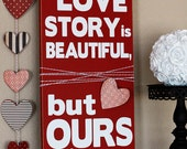 Valentine's Day Wooden Vinyl Lettering Sign