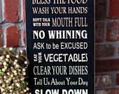 Dinner Table Rules Subway Art - vinyl lettering only