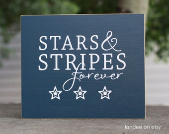 Stars & Stripes forever - 4th of July board