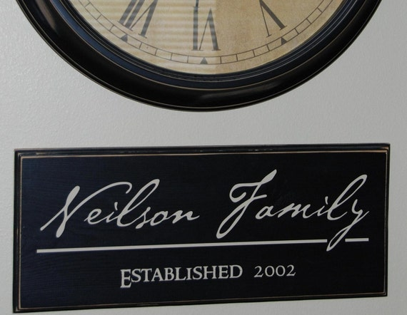 Personalized Family Established board - vinyl lettering - Personalized gift