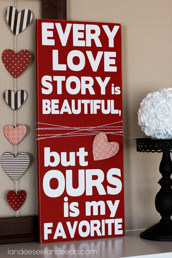Valentineu0027s Day Wooden Vinyl Lettering Sign