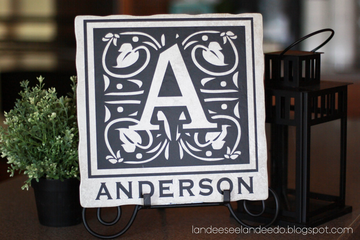 X Custom Monogram Tile Vinyl Decal - Custom vinyl decals utah