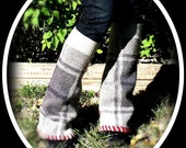 Plaid Upcycled Bell Bottom Leg Warmers